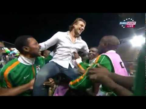 Hervé Renard celebrates Zambian AFCON Success! 12/02/12