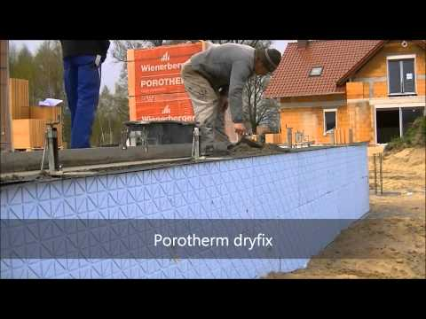 Porotherm dryfix przygotowanie pierwszej warstwy. BUDOWA DOMU. KURS DVD LINK POD FILMEM