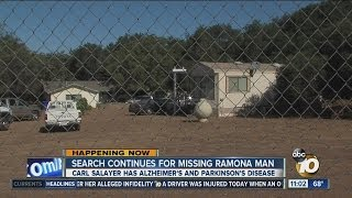 video Residents in the Ramona area were asked today to keep an eye out for a 66-year-old man with Alzheimer's disease who went missing earlier this week.