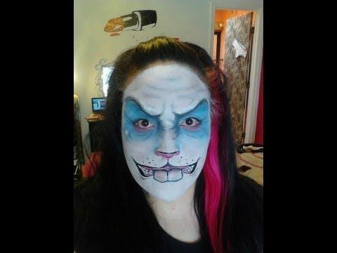 Bunny Rabbit Halloween Face Makeup Halloween Makeup Scary Bunny