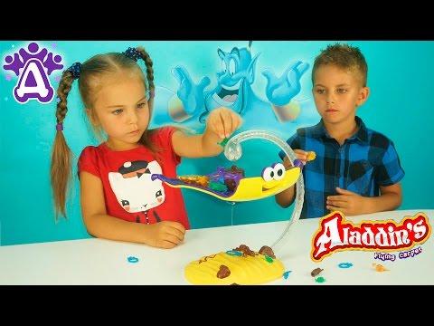 Летающий ковер Алладина Игрушки Для Детей Распаковка Unboxing toys Aladdin Flying Carpet for  kids.