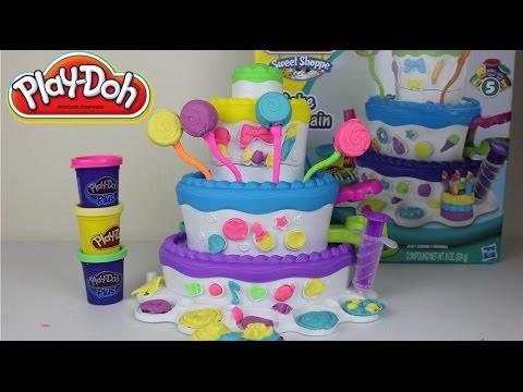 Plastilina Play-Doh Torre de Pasteles| Play Doh Cake Mountain|Plastilina Play-Doh|Mundo de Juguetes