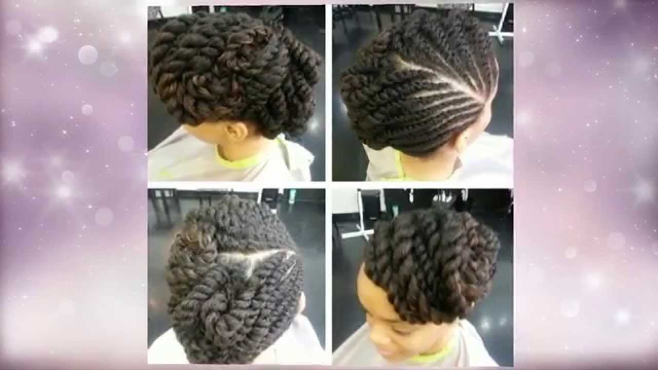 Flat Twist Updo Hairstyles YouTube