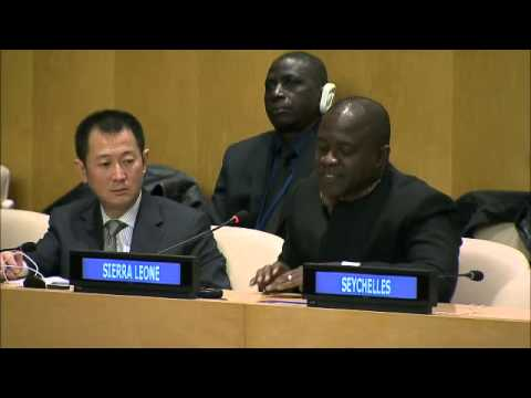Vandi Chidi Minah (Sierra Leone) on Ebola - General Assembly, Informal Meeting, 69th Session