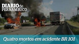 Quatro pernambucanos morrem em acidente na BR 101 na Para�ba