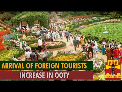 Arrival of Foreign Tourists Increase in Ooty...-Thanthi TV