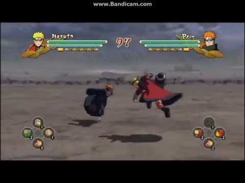 Sage Mode Naruto Vs  Pain Six Paths Ninja Storm 3 video