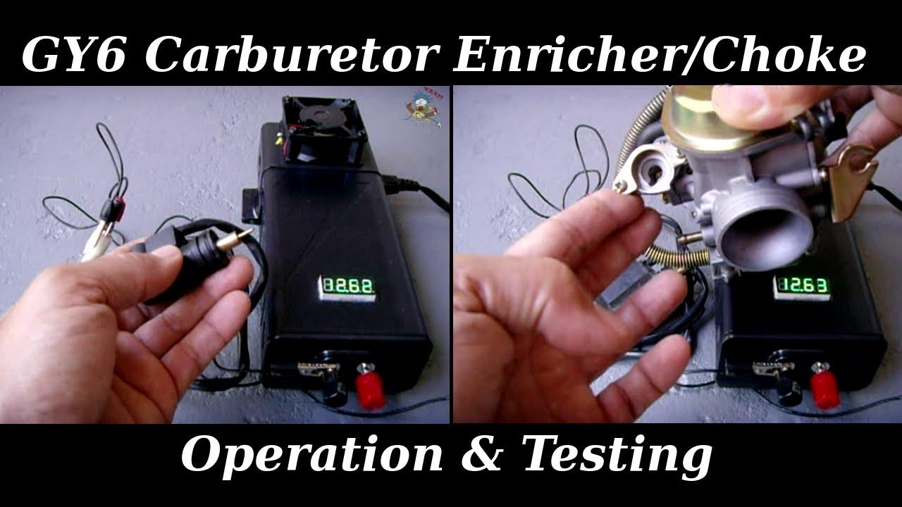 Gy6 Enricher    Automatic Choke Operation  U0026 Testing