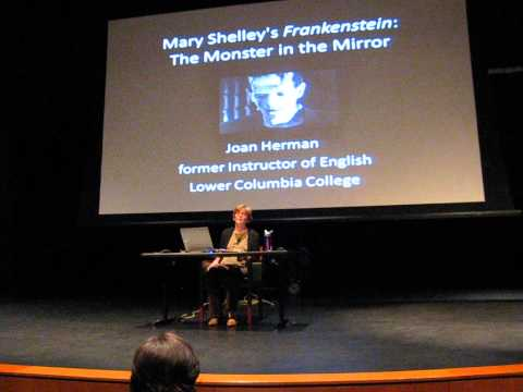 Joan Herman speaking at Lower Columbia College, Longview WA, on November 6, 2014.