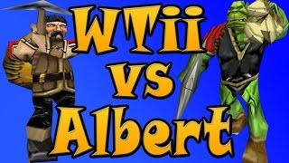 Warcraft 3 - WTii vs Albert #1 (1v1 #1)