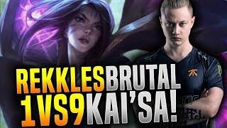 Rekkles is a GOD with Kai'sa ADC! - FNC Rekkles Plays New Champion Kai'sa!   Be Challenger
