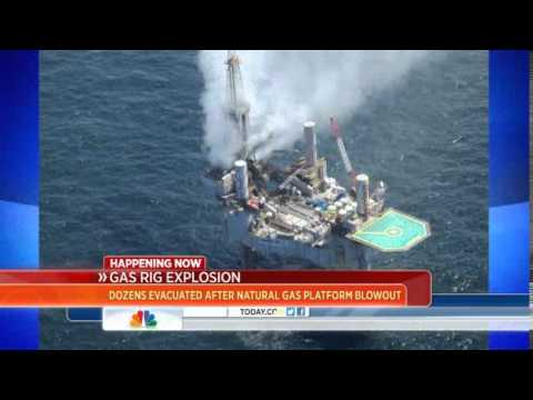 Dozens rescued after natural gas platform explosion