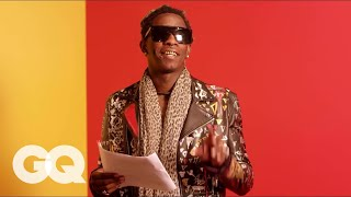 "Young Thug Reads the Lyrics to ""Best Friend"" So You Can Kind Of Understand Them 