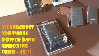 Silvercrest SPB5200A1 Power Bank UNBOXING (UHD - 4K !)