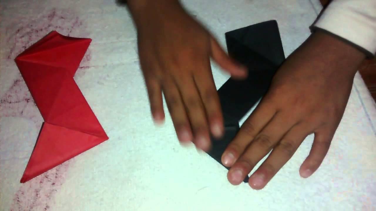 Como hacer una estrella ninja de papel youtube for Como hacer una pileta de fibra
