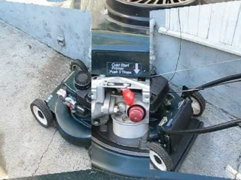 Lawn Mower Repair pt.1: starts & dies. Tecumseh/Craftsman. Alameda Repair Shop