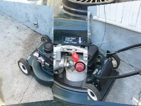 Lawn Mower Repair pt.1: starts & dies. Tecumseh/Craftsman. Alameda Repair Shop