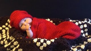 Download How to crochet Easy Newborn Baby Infant Cocoon tutorial 3Gp Mp4