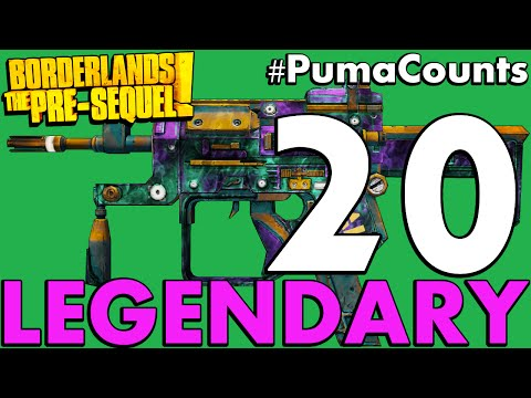 Top 20 Best Legendary Guns and Weapons in Borderlands: The Pre-Sequel! #PumaCounts