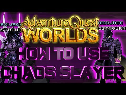 AQWorlds How to use Chaos Slayer Class!