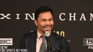 MANNY PACQUIAO vs KEITH THURMAN COMPLETE FIERY PRESSER IN LOS ANGELES
