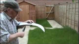 Scythe lawn mow