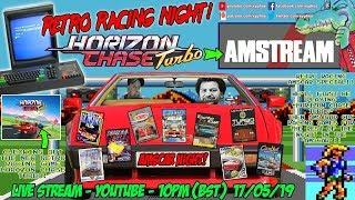 "[AMSTREAM] Retro Racing AMSCAR Special! ""Horizon Chase Turbo"" Then Amstrad CPC Racing Games!"