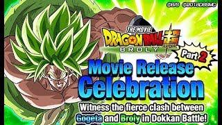 Global Movie Broly and Gogeta NEWS Celebration Part 2 HYPE | Dragon Ball Z Dokkan Battle
