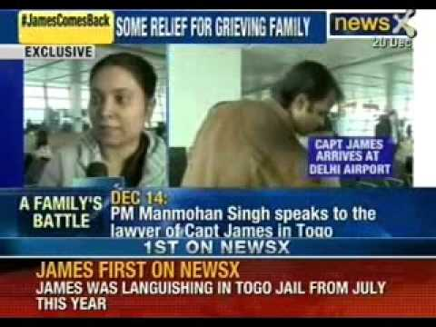 Captain Sunil James and Aditi james at New Delhi Airport - Newsx