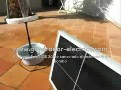 Bomba Solar directa con Panel 20Wp