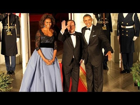 Obama and Hollande share mutual praise at US state dinner