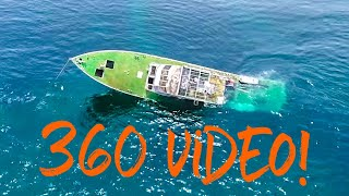 360* video of SINKING SHIP! SV Delos sailing