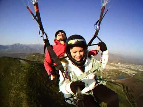 Vuelo en Colina con Tamara Parapente Santiago. Chile.