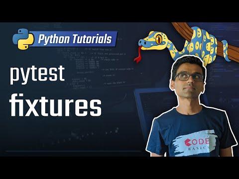 Python unit testing - pytest fixtures