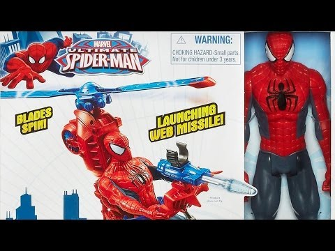 Spider-Man with Web Copter / Spidercopter i Figurka Spider-Mana /30cm/ - Spider-Man - Hasbro