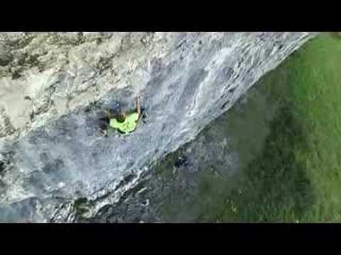Steve McClure climbing Northern Exposure ext. 9a+, Kilnsey