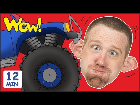 Monster Trucks Toys for Children + MORE Stories for Kids   Steve and Maggie by Wow English TV