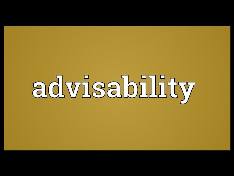 Header of Advisability