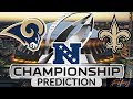 Lagu 2018 - 2019 NFL Playoff Predictions - Los Angeles Rams vs New Orleans Saints