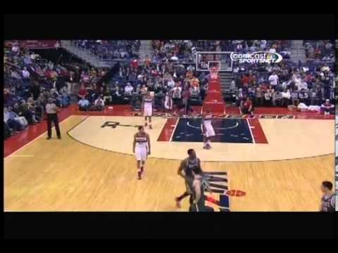 Larry Sanders thumbs up after ejection Milwaukee Bucks at Washington Wizards