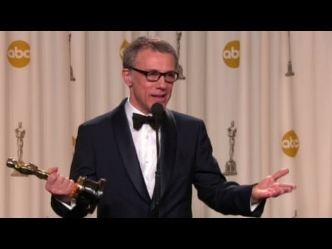Raw video: Christoph Waltz Oscar Q&A.