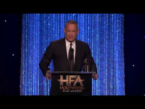 Clint Eastwood Presents The Actor Award To Tom Hanks - Hollywood Film Awards 2016
