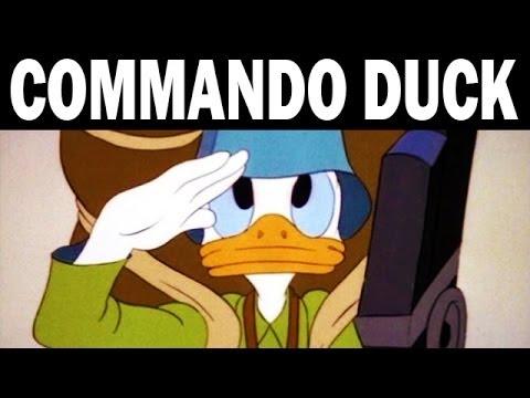 Commando Duck: Donald Duck Against the Japanese | 1944 | WW2 Animated Propaganda Film by Walt Disney