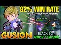 Gusion 92% Win Rate - Top 1 Global Gusion BLACK BOY - Mobile Legends thumbnail