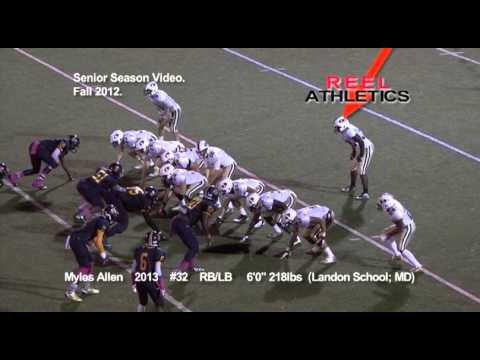 MYLES ALLEN Senior *Full Season* 2013 (Landon School; MD).