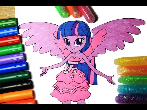 My Little Pony Coloring Book Twilight Sparkle  Equestria Girls | DIY | Arts for kids | How to color