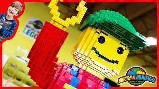 GiANT Lego Man at Bricks & Minifigs Store!