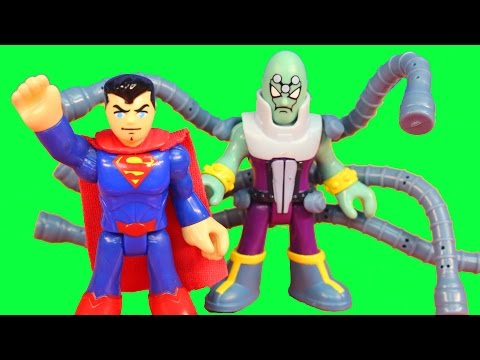 Imaginext Brainiac takes over police and space station Superman saves the day DC Superhero