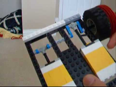 Lego engine running on vacuum cleaner power