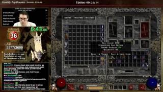 Diablo 2 - HELL HARDCORE /P8 BLIZZ SORC RACE!!
